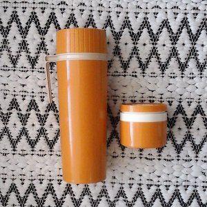 1970's Vintage Thermos Mustard Set